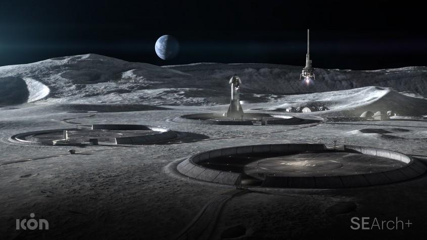 Oamenii se întorc pe Lună şi vor sta mai mult Arhitecţii au proiectat construcţiile în care