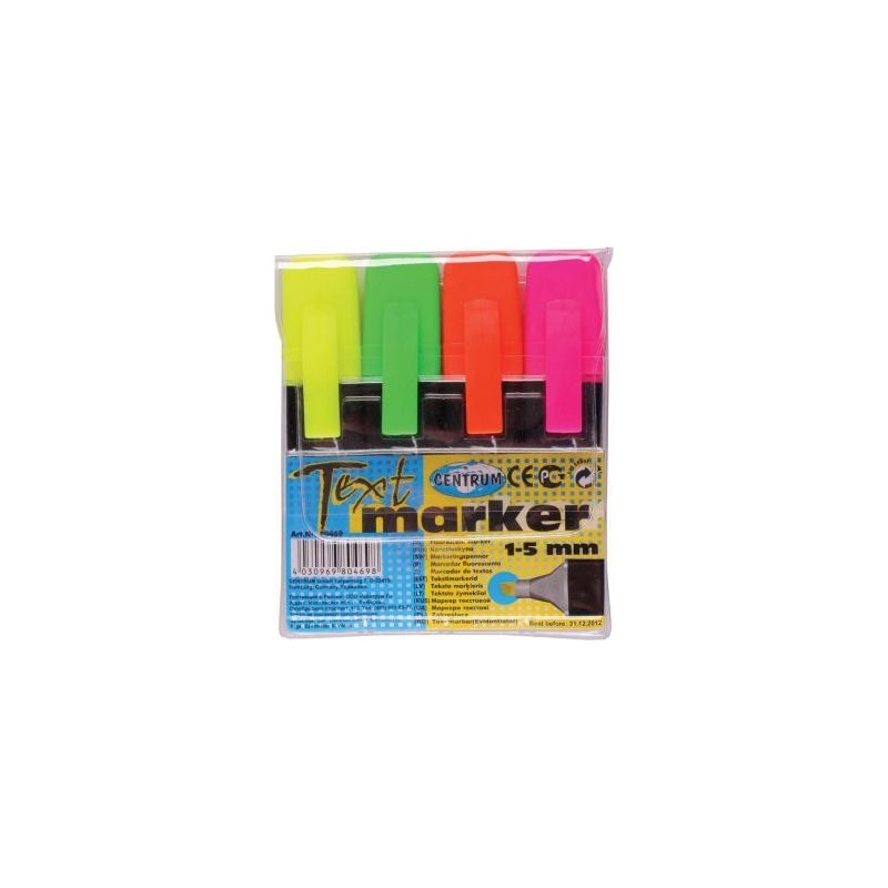 Textmarker set 4 CENTRUM