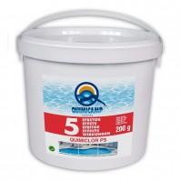Pastile 200g multifunctii (clor algicid floculant anticalcar si mentinere pH) cu dizolvare lenta pentru piscine -