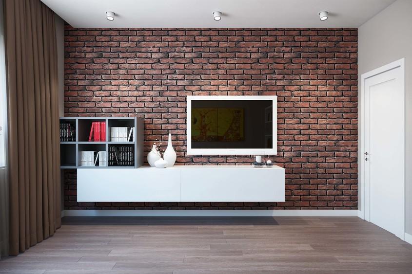 Cum poate fi folosit tapetul cu aspect de cărămidă în designul interior