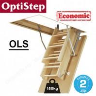 Scara din lemn pentru acces in pod - Optistep OLS