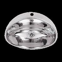 Lavoar incastrat din otel inox, cu gaura pentru baterie - SANELA SLUN 32
