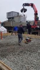 Termoizolare rezistenta la solicitari pentru un garaj de autocamioane din Sopron