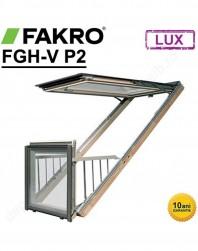Fereastra balcon Fakro FGH-V P2 cu rama de etansare inclusa