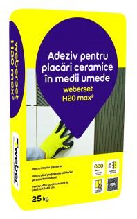 Adeziv pentru placari ceramice in medii umede - weberset H20 max2