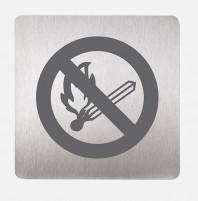 Pictograma focul deschis interzis - SANELA SLZN 44N