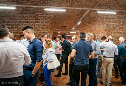 Iluminare led crama pentru vinuri Cetatea Oradea - Salonul Vinurilor Millésime  Oradea ELECTRONIC INTERACTIV