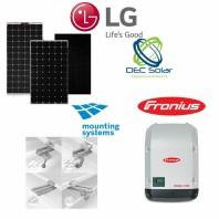 Kit fotovoltaic prosumator on grid 5,4 kWp LG NEON H Trifazat.