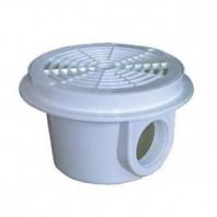 Sifon rotund din ABS alb pentru piscine din beton