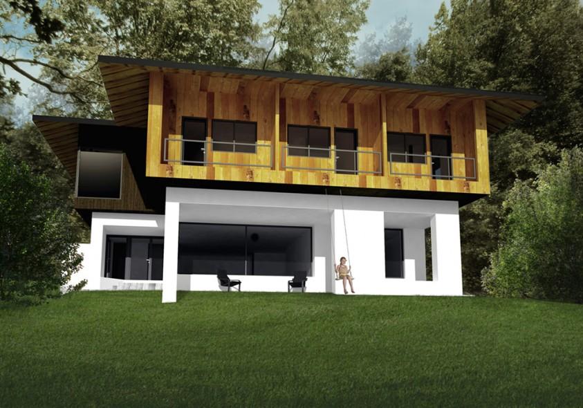 Pensiune 6 camere - Catias - Buzau - Vedere din fata  Buzau AsiCarhitectura