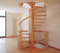 Scara in spirala cu trepte din lemn masiv - ELITE