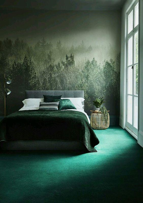 O imbinare armonioasa de tonuri de verde amplifica efectul scontat.
