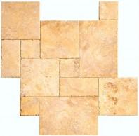 Travertin - Golden Sienna BCE French Pattern Set 1,2 cm