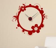"Sticker tip ceas de perete ""Floare Circulara"""