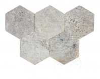 Travertin Kashmir Cross Cut Hexagon Antichizat 30 5 x 30 5 x 1 2 cm -