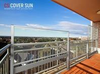 Perete de vant-balustrada  din sticla glisanta vertical autoportanta - Wind Up