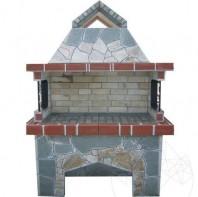 Gratar Gradina Mare cu sistem grill - Placat cu piatra poligonala GCG-1015
