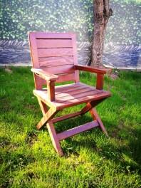 Scaun terasă sau grădină din lemn masiv