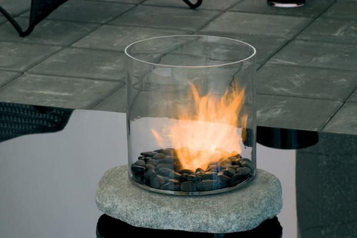 Semineu pe bioetanol pentru exterior (si interior) - Stone