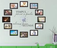 "Sticker tip ceas de perete ""In Familie"" + Mecanism, varianta cu poze"
