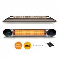 Incalzitor terasa Veito Blade 2kW fibra Carbon Aluminiu Telecomanda 4 Trepte Afisaj LED buton Touch IP55