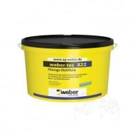 Hidroizolatie flexibila impermeabila sub placari de gresie si faianta - Weber Tec 822 24 kg Weber