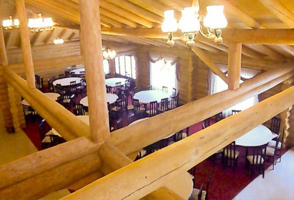 Tratarea lemnului folosit la un restaurant din buștean rotund din Valea Avrigului