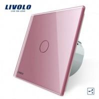 Intrerupator cap scara / cap cruce cu touch Livolo din sticla - VL-C701S