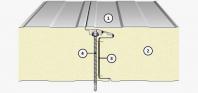Panourile termoizolante, de perete, cu îmbinare vizibilă - IsoPer N