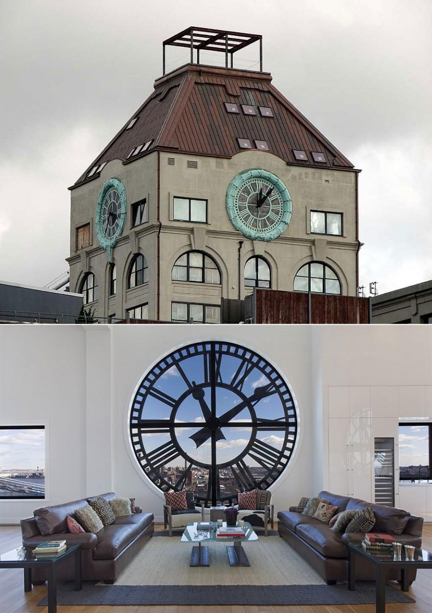 Un turn cu ceas transformat intr-un penthouse