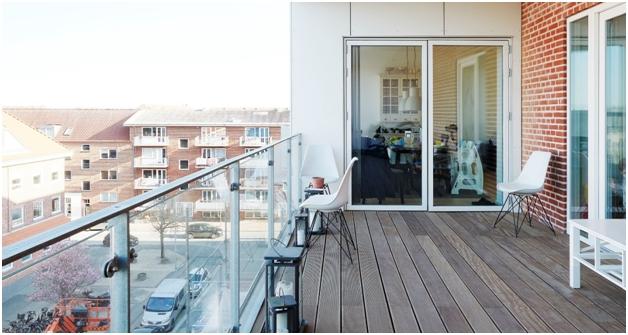 Pardoseala WPC utilizata la amenajarea balconului