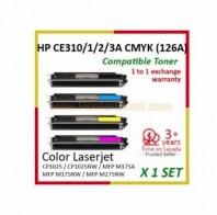 Toner HP CE310/1/2/3 CMYBK compatibil