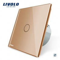 Intrerupator cu revenire, Livolo, cu touch din sticla - VL-C701H