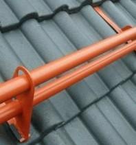 Parazăpadă cilindrică - învelitori ceramice / beton
