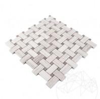 Mozaic Marmura Athena Grey Wood si Athena White Wood Basket Weave Polisat MPN-7576