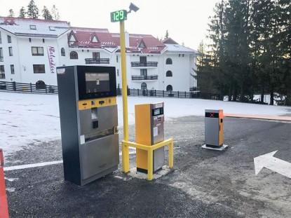 Instalare sistem de parcare cu plata la Hotel Edelweiss  Poiana Brasov TRITECH GROUP