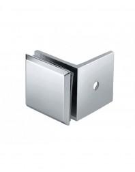 KE-04-P Conector perete-sticla 90grade, lucios