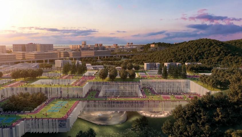 O clădire universitară lungă de 700 de metri