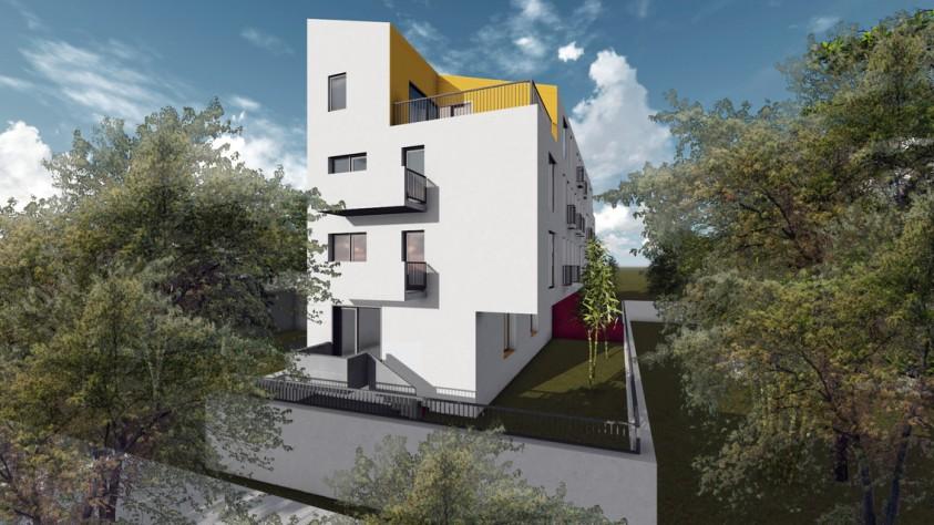 Locuinte colective D+P+2E+M - Bucuresti - str. Peris - 01.19  Bucuresti AsiCarhitectura