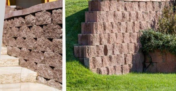 Blocheți folosiți pentru ziduri de sprijin și terasări