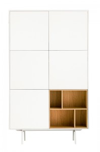 Dulap dormitor, alb mat - Little Nature