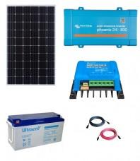 Kit Fotovoltaic Off-Grid 300W cu invertor de 800VA