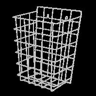 Cos de gunoi de perete din sarma, alb - SANELA SLZN 40