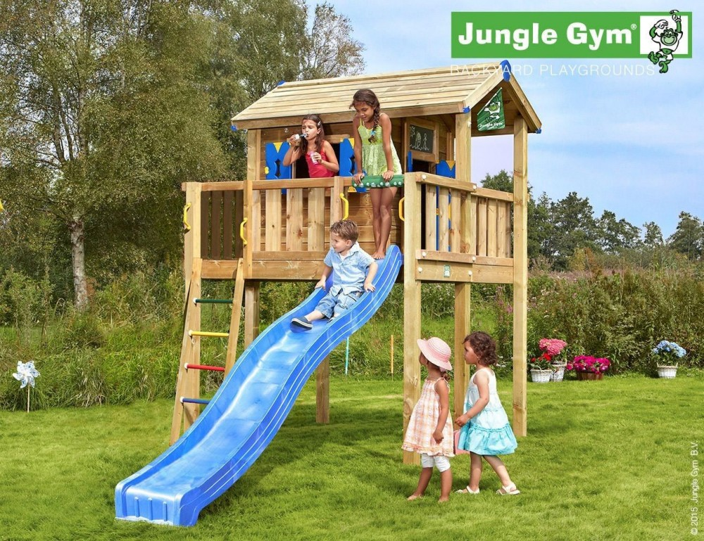 Complex de joaca - JUNGLE GYM PLAYHOUSE XL cu casuta din copac