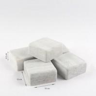 Piatra Cubica Marmura Kavala Antichizata 10 x 10 x 4-5 cm - PC-2184