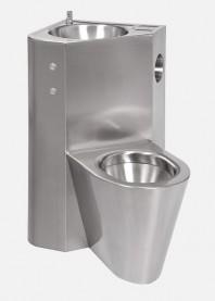 Combinatie de lavoar si vas WC din otel inox - SANELA SLWN 08ZPP