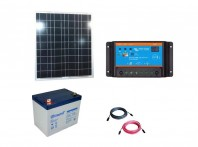 Kit cu panou fotovoltaic de 50W