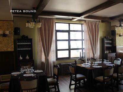 Ssitem audio instalat in Restaurantul Millenium  Galati PETEA Sound