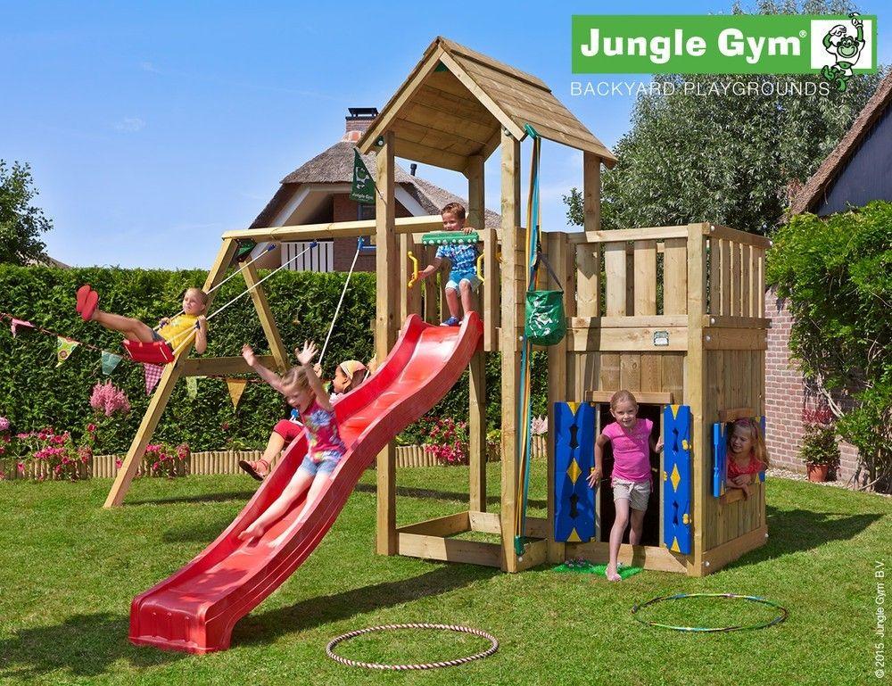 Complex de joaca - JUNGLE GYM MANSION PLAYHOUSE SWING