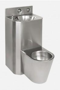 Combinatie de lavoar si vas WC din otel inox - SANELA SLWN 28